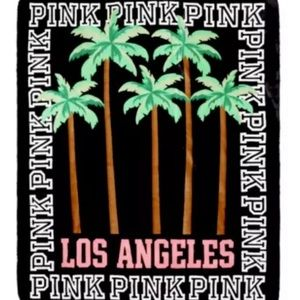 Pink by VS  soft Sherpa Los Angeles Blanket.